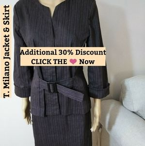 T. Milano Skirt & Jacket Sz 10.